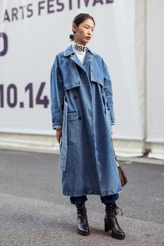 The Very Best Street Style From Shanghai Fashion Week - Trend, Denim - Denim Fashion