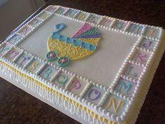 Baby Shower Sheet Cakes   stroller baby shower sheet cake cakecentral