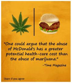 Time Magazine points out a true fact: McDonald's is a bigger threat than marijuana could ever be
