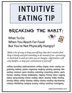 Intuitive Eating Tip: Breaking The Habit... CamerinRoss.com