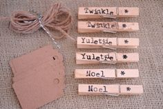 Gift Tags {love this idea along with clothes pins}