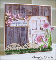 Heartfelt Creations | Vintage Door & Flirty Fleurs