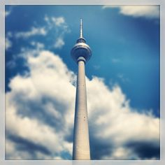 Fernsehturm | TV Tower - Berlin icon.  You can have a coffee in the rotating restaurant upstairs (which I have, admittedly, never done but always wanted to)