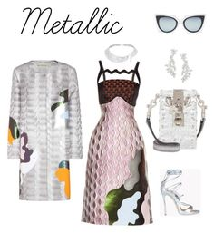 """""""Metallic Babe"""" by neo-gamede ❤ liked on Polyvore featuring Dsquared2, Mary Katrantzou, Dolce&Gabbana, Messika, Kate Spade and Fendi"""