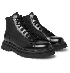 Lace Up Boots, Black Boots, All Black Sneakers, High Top Sneakers, Italian Shoes For Men, Men's Shoes, Shoe Boots, Prada Men, Prada Shoes Men