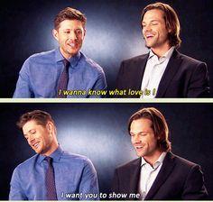 "[GIFSET] Jensen singing his ""entrance"" song, lol"