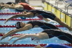 19.08 Le départ de la finalee du 4 x 100m est donné aux jeux panaméricains de Toronto, au Canada.Photo: jim Watson