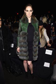 Coco Rocha Fur Coat - Coco Rocha Looks - StyleBistro