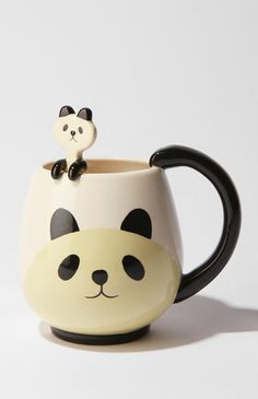 Panda mug & spoon set