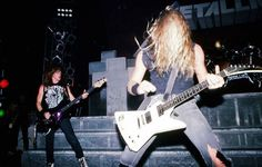 Jason NEWSTED and James Hetfield - Metallica 1986.