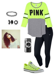 """#PINK"" by not-your-ordinary-girl ❤ liked on Polyvore featuring NIKE, Converse, Casetify and Bling Jewelry"
