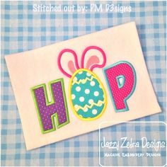 Hop Applique Design: Jazzy Zebra Designs