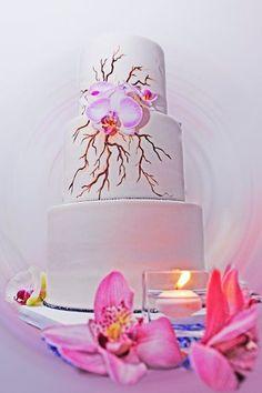Pièce montée 2017  Gâteau de mariage peint à la rose | Joan Love Events