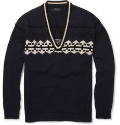 Graphic V by Burberry Prorsum: Wool blend. #Sweater #Burberry_Prorsum