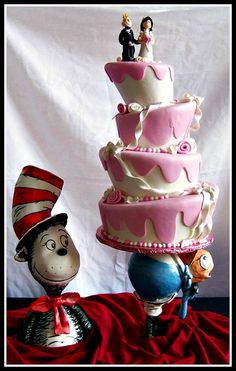 Cat in the Hat wedding cake from Cakes by Suzy.