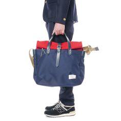 Briefcase Navy x Red