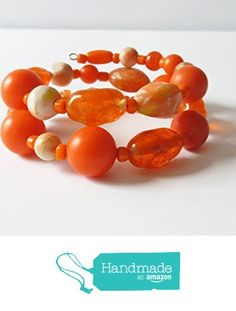 Bracelet and Earring Set with Vintage Orange Beads from Adornments by Jennifer McCarthy http://www.amazon.com/dp/B01GAQJNBO/ref=hnd_sw_r_pi_dp_gJFuxb0E0VA2W #handmadeatamazon