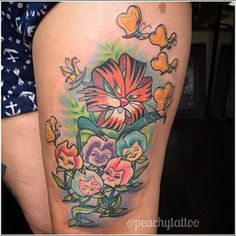alice in wonderland flowers tattoo - Google Search