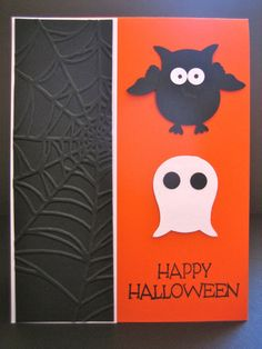 Stampin' Up Owl Punch Halloween Greeting