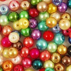 GLASS PEARL Round BEADS 400x4mm 200x6mm 100x8mm 50x10mm 20x12mm   eBay 1.39