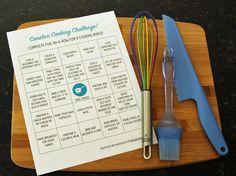 Kids Cooking Challenge Cooking challenge bingo for kidsCooking challenge bingo for kids Cooking Classes For Kids, Cooking Games, Kid Cooking, Cooking Light, Cooking Pasta, Cooking Steak, Cooking Turkey, Easy Cooking, Healthy Cooking