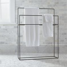 Shop for bathroom accessories at Crate and Barrel. Browse towel bars, hampers, scales, soap dispensers, bathroom furniture and more . Order online.