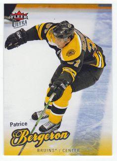 Patrice Bergeron # 7 - 2008-09 Fleer Ultra Hockey