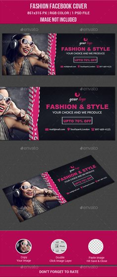 Fashion Facebook Cover Template PSD #design Download: http://graphicriver.net/item/fashion-facebook-cover/12072648?ref=ksioks