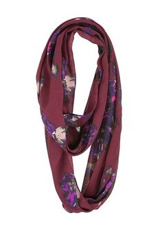 Floral Print Infinity Scarf (original price, $14) available at #Maurices