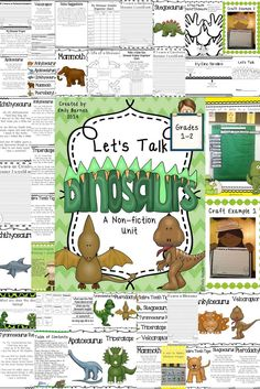 Dinosaur Non-Fiction Unit: Grades 1-2. Charts, crafts, worksheets, poetry, and so much more!
