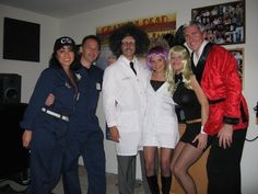 Hugh Heffner and his bunny ,Mad scientist and assistant and CIA agents Mad, Bunny, Thanksgiving, Costumes, Halloween, Jackets, Fashion, Costume, Down Jackets
