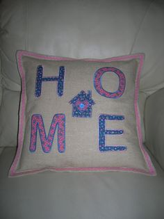 HOME applique cushion I made.