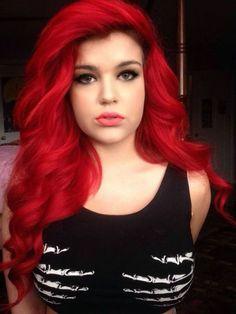 New Hair Color Bright Red Shirts 55 Ideas Bright Red Hair, Bright Hair Colors, Red Hair Color, Colorful Hair, Red Color, Purple Hair, Dye My Hair, New Hair, Love Hair