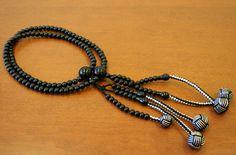 Ebony Wood Buddhist Prayer Beads