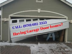 Having Garage Door Issues? Give us a call here at Mike Garage Door Repair!  We will come out anytime, no extra cost.    CALL the experts (970) 682-3353 or visit on www.mikegaragedoorrepair.com