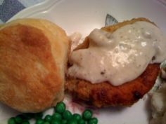 Sweet Tea and Cornbread: Pan Fried Pork Chops with White Milk Gravy!
