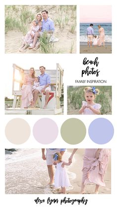 Family Portraits What To Wear, Family Portrait Outfits, Fall Family Photo Outfits, Sunset Family Photos, Spring Family Pictures, Picture Color Schemes, Family Picture Colors, Beach Picture Outfits, Sea Girt