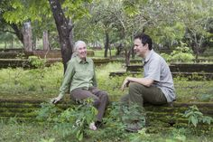 Share this photo to wish Disneynature Ambassador Dr. Jane Goodall a Happy 81st Birthday! This photo was taken where ‪#‎MonkeyKingdom‬ was filmed in Sri Lanka with director Mark Linfield. ‪#‎81yearsofJane‬