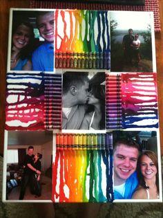 Successful Pinterest project! Crayon art for my boyfriend