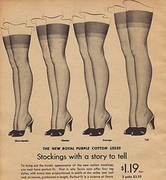 A Brief Lesson in Hosiery ~ Frou Frou Fashionista -  This is from my favorite lingerie blog, by Alison and Gail Rubke, who have an adorable store in LA, Faire Frou Frou.