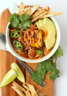 This vegan Tortilla Soup is made with seasoned jackfruit for an easy and delicious soup that can be made in just 30 minutes.