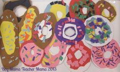 Book Mama: Activities for The Donut Chef - Boy Mama Teacher Mama Preschool Food, Preschool Crafts, Food Crafts, Fraction Activities, Preschool Activities, Writing Activities, Math Games, Toddler Crafts, Crafts For Kids