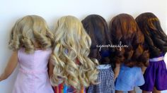 How I Curl All of My American Girl Dolls Hair American Girl Parties, My American Girl Doll, American Girl Crafts, American Girl Clothes, Fix Doll Hair, Girl Makeover, American Girl Hairstyles, Doll Hairstyles, Hair Fixing
