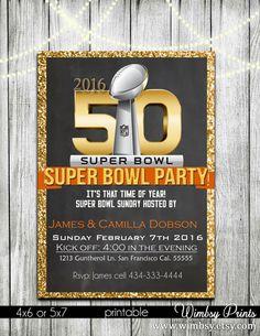Canada Goose victoria parka sale shop - Super Bowl 50 Printable Football Party Invitations | Super Bowl ...