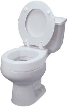 Toilet Seats: 3 In. Elevated Toilet Seat White Elongated Hinged Easy Install Easy-To-Clean -> BUY IT NOW ONLY: $72.8 on eBay!
