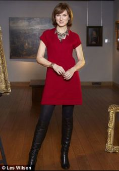 Not perfect: Fiona Bruce doesn't always manage real life with the aplomb as she embodies on TV