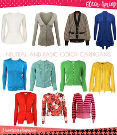 Wardrobe Essential: Neutral and basic color cardigans for  Clear Spring women by 30somethingurbangirl.com // Find your best neutral and basic color cardigans and wear them during this autumn or any time you need a plus layer. Which is the best neutral and basic color shades for Clear Spring seasonal color women? And what is the key style elements of your seasonal palette? Click and read it in my post.