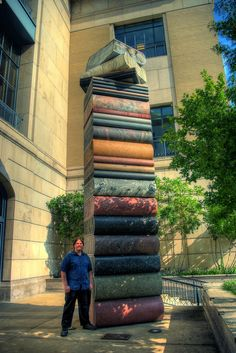 Book sculpture - Main Public Library, Nashville