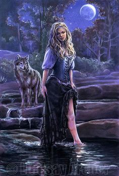fantasy art fairies and wolves - Google Search