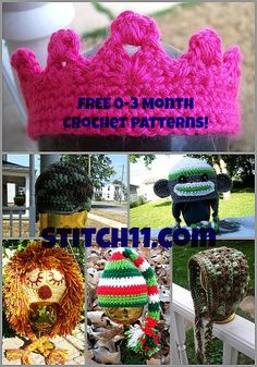 Free 0-3 Month Crochet Patterns!.